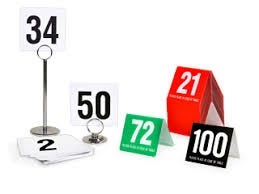 Card Stands and Numbers