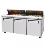 """Turbo Air MST-72-N Cold Table 72.7"""" l 18-Pan, NG Refrigerant"""
