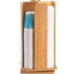 Cal Mil Plastics 378-60 Cup/Lid Dispenser Revolving Bamboo