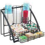 Cal Mil Plastics 1715-13 Condiment Caddy, Wire Blk, Beverage Service