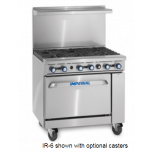 """Imperial IR-6 Range 36"""" 6-B W/Oven (Nat Gas)"""