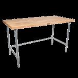 "John Boos & Co JNB10 Maple Table 30"" X 72"" Open Base"