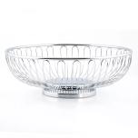 Tablecraft 4170 Basket Chrome Round
