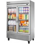 """True T-49FG-HC 54"""" Two Section Reach-In Freezer, (2) Glass Doors, 115v"""