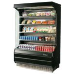 "Turbo Air TOM-40B-N Open Merchandiser 39"" l 78"" h Blk, Ng Refrigerant"