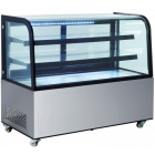 """Ultra® Bakery Showcase,Refrigerated S/S Curve Front 72"""""""