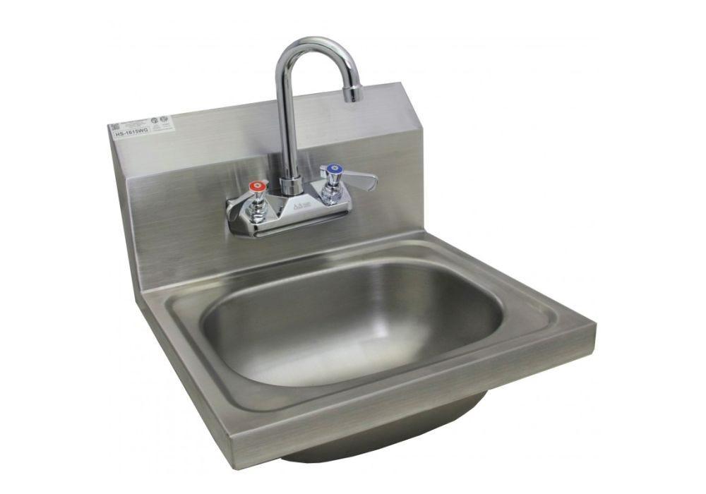 Gsw Hs 1217wg Hand Sink Narrow 12 W X 17 D No Lead Faucet Hs 1217wg